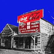 Coca-cola  Sign Palace Cafe Sumter South Carolina 1912-2013   Poster