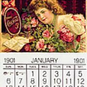 Coca - Cola Vintage Calendar Poster