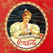 Coca - Cola Vintage Poster Calendar Poster
