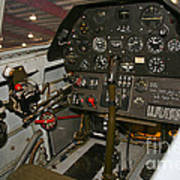 Cockpit Of A P-40e Warhawk Poster