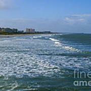 Cocoa Beach Seascape Poster