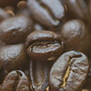 Coffee Bean Macro Poster