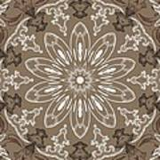 Coffee Flowers 11 Ornate Medallion Poster