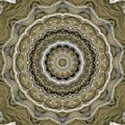 Coffee Flowers 2 Ornate Medallion Olive Poster