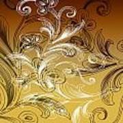 Coffee Flowers 4 Calypso Poster