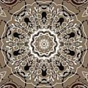Coffee Flowers 5 Ornate Medallion Poster