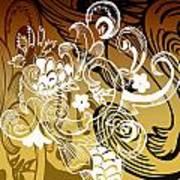 Coffee Flowers 8 Calypso Poster