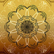 Coffee Flowers Calypso Triptych 4 Vertical Poster