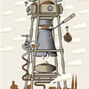 Coffee House In The City Poster