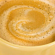 Coffee In Yellow Poster