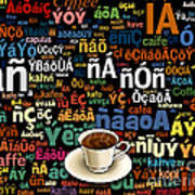 Coffee Language Poster by Bedros Awak
