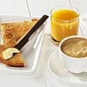 Coffee Toast Orange Juice Poster by Colin and Linda McKie
