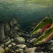Coho Fishing Poster