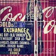 Coke And Gold Poster