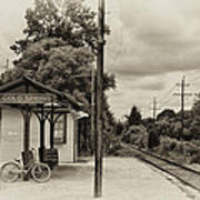 Cold Spring Train Station In Sepia Poster