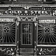 Cold Steel Bw Poster