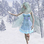 Cold Winter Fairy Poster