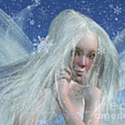Cold Winter Fairy Portrait Poster