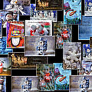 Collage Xmas Cards Horz Photo Art Poster