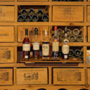 Collection Of Wines And Armagnac Poster
