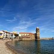 Collioure Beach And Bell Tower Poster