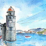 Collioure Tower Poster