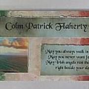 Colm Irish Name Plate Poster