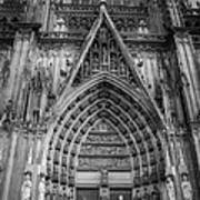 Cologne Cathedral 11 Bw Poster