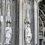 Cologne Cathedral South Side Detail 2 Poster