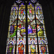 Cologne Cathedral Stained Glass Window Of Pentecost Poster