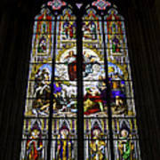 Cologne Cathedral Stained Glass Window Of St Paul Poster