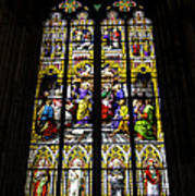 Cologne Cathedral Stained Glass Window Of St Peter Poster
