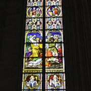 Cologne Cathedral Stained Glass Window Of St. Stephen Poster