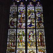 Cologne Cathedral Stained Glass Window Of The Nativity Poster