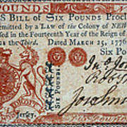 Colonial Currency, 1776 Poster