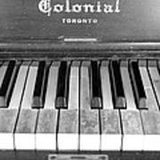 Colonial Piano Poster