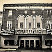 Colonial Theater In Phoenixville In Sepia Poster