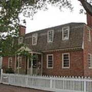 Colonial Williamsburg Scene Poster