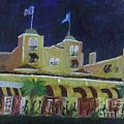 Colony Hotel At Night. Delray Beach Poster