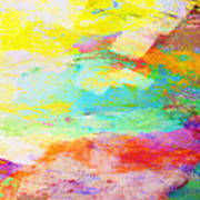 Color Burst Abstract Art  Poster