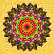 Color Circles Kaleidoscope Poster