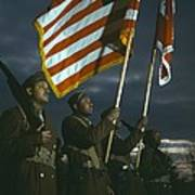 Color Guard Of African American Poster