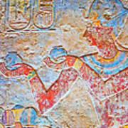 Color Hieroglyph Poster