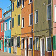 Color Houses In Row Poster