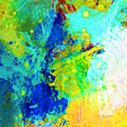 Color Wash Abstract Poster