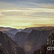 Colorado Canyon Morning Poster