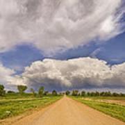 Colorado Country Road Stormin Skies Poster