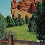Colorado Garden Of The Gods From The Trail Poster