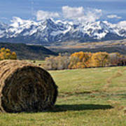 Colorado Haybale Poster
