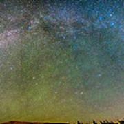 Colorado Indian Peaks Milky Way Panorama Poster